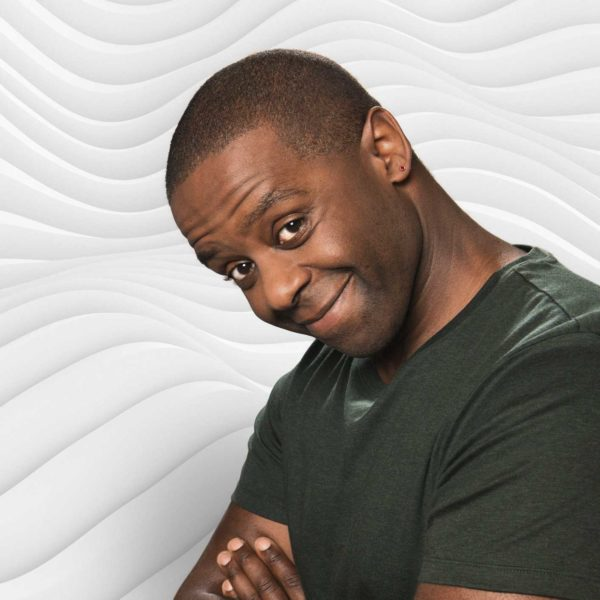 Adrian Lester smiling