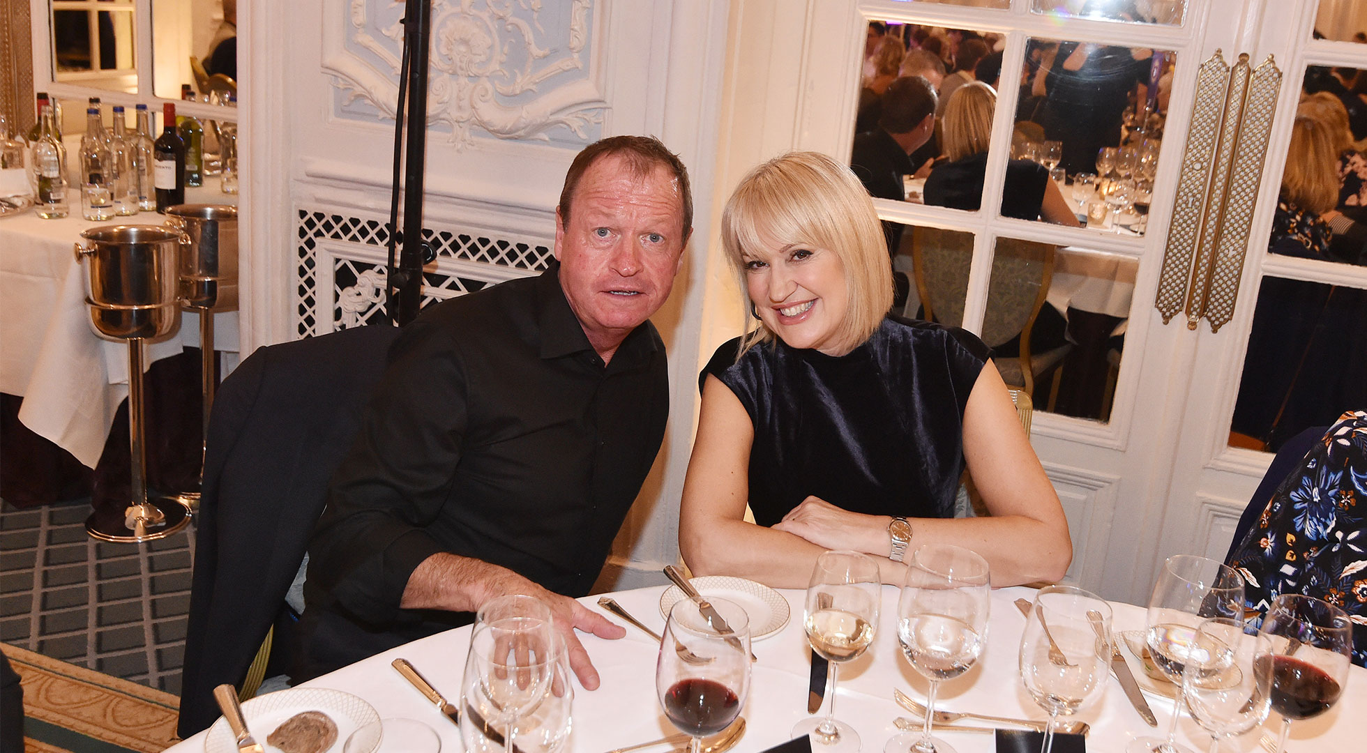 Mark King and Nicki Chapman at The Savoy Gala Lunch