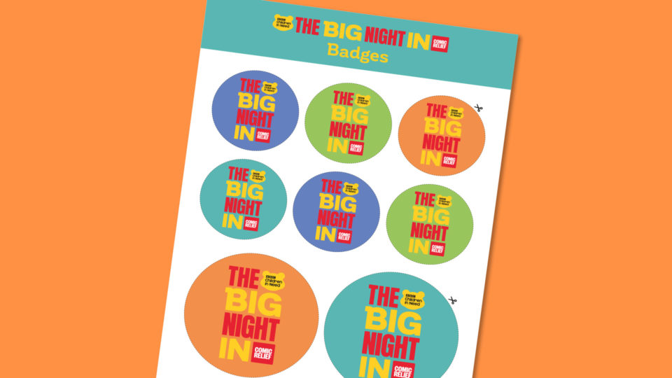 Colourful Big Night In badges