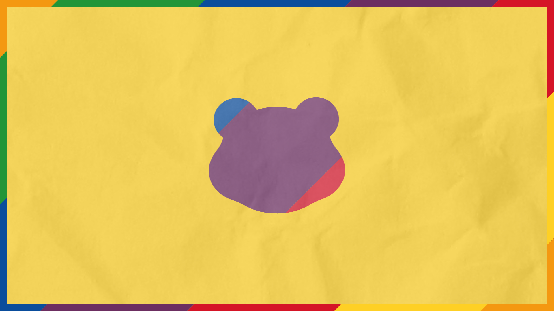 A Pudsey head graphic with rainbow colours